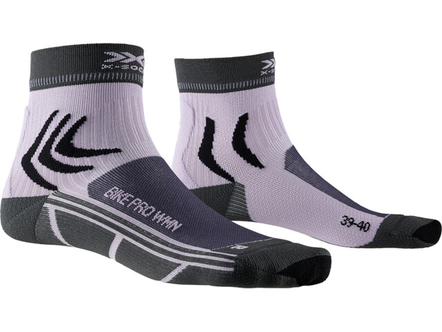 X-Socks Bike Pro Socks Women charcoal/magnolia purple